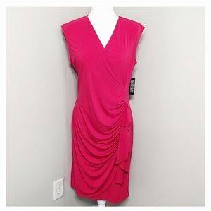 New York  Company Stretch Pink Sheath Dress L NWT